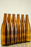 Group of brown bottle Stock Images