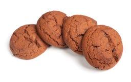 Group of brown cookies Stock Image