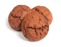 Group of brown cookies Royalty Free Stock Photos