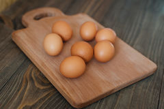 Group of brown eggs Stock Image