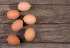 Group of Brown Eggs Stock Photos