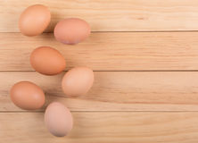Group of Brown Eggs Royalty Free Stock Photos