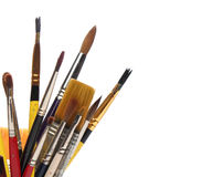 Group of brushes over white Royalty Free Stock Photography