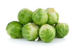 Group of Brussel Sprouts. Isolated on white background stock photos