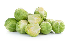 Group of Brussel Sprouts  on white background Stock Photo