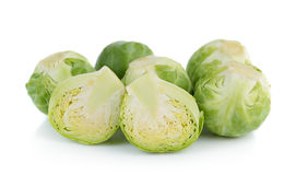 Group of Brussel Sprouts  on white background Royalty Free Stock Photos