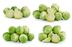 Group of Brussel Sprouts  on white background Royalty Free Stock Photography