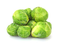 Group Brussels Sprouts. A small group of stacked fresh Brussels sprouts Stock Photo