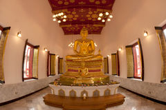 Group of Buddha in church . Royalty Free Stock Image
