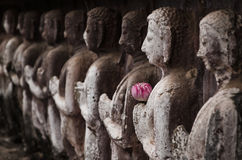 Group of buddha statue Stock Photo