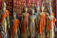A group of buddha statues (standing) Royalty Free Stock Image