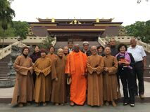 Group of Buddhist monks Stock Image