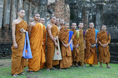 Group of buddhist monks Royalty Free Stock Photos