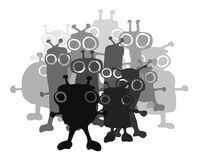 Group of bugs. Creative design of group of bugs Stock Images