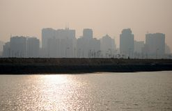 Group of buildings. Dalian, China Stock Photography