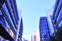 Group of buildings in the city Royalty Free Stock Photo