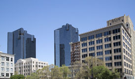 Group of buildings in downtown Fort Worth. Modern and historic buildings in downtown of Fort Worth ,TX USA royalty free stock photo