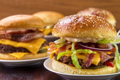 Group of burgers Royalty Free Stock Photography