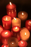 Group of burning candles royalty free stock image