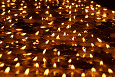Group of burning candles Royalty Free Stock Photos