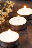 Group of burning candles Stock Photography