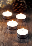 Group of burning candles Royalty Free Stock Photo