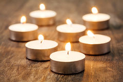 Group of burning candles Stock Photos