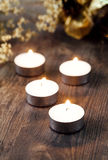 Group of burning candles Royalty Free Stock Photography