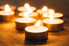 Group of burning candles Stock Image