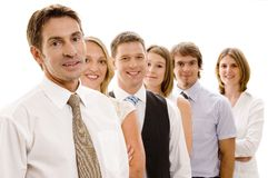Group Business. A confident business team of six men and women Stock Images