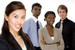 Group Business. Four attractive individuals make a young diverse business team Stock Photo