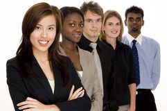 Group Business. A diverse group of individuals make this business team Stock Photo