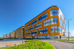A group of business buildings Stock Images