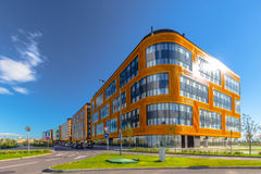 A group of business buildings Stock Photos