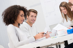 Group of business colleagues in a meeting Royalty Free Stock Photos