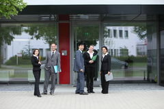 Group of business colleagues outside the office Royalty Free Stock Photography