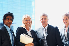 Group of business colleagues smiling Royalty Free Stock Image