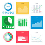 Group of business diagram on white  Stock Photos