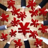 Group Business Holding Yen Symbols Concept Stock Photography