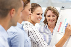 Group of Business Individuals in brainstorming act Stock Photos