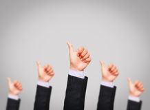 Group of business man hand show Stock Images