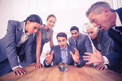 Group of business man predict the future Stock Photo