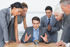 Group of business man predict the future Stock Photography