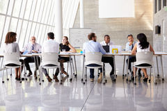 Group Business Meeting Around Table In Modern Office Royalty Free Stock Photos