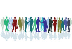 Group business meeting vector illustration