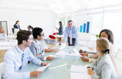 Group of Business Meeting In The Office Royalty Free Stock Photography