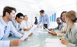 Group of Business Meeting In The Office Royalty Free Stock Photo
