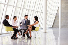 Group Business Meeting In Reception Of Modern Office Stock Image