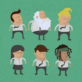 Group of business men charactor, women Stock Photo