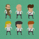 Group of business men , women charactor Royalty Free Stock Photos